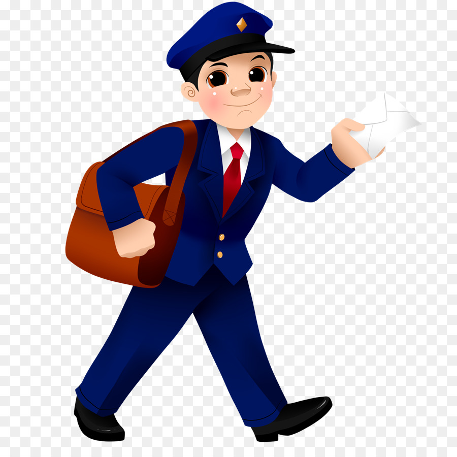 The postman mail carrier. Mailman clipart