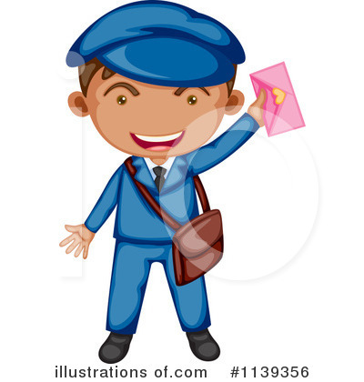 Mailman clipart. Illustration by graphics rf