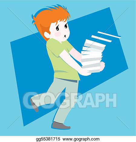 Vector boy kids illustration. Mailman clipart kid