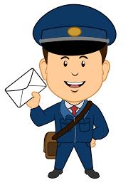 Image result for postman. Mailman clipart kid
