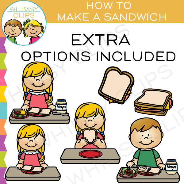 Make clipart. How to a sandwich