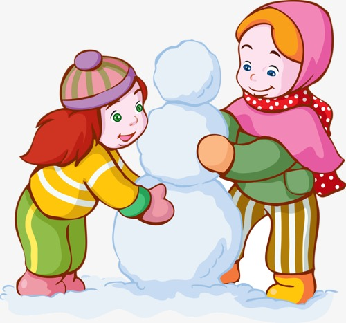 Make clipart. A snowman cartoon characters