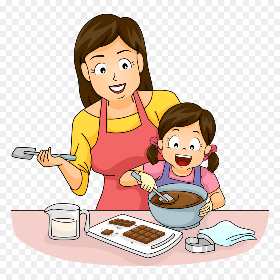 Cooking mother baking clip. Make clipart