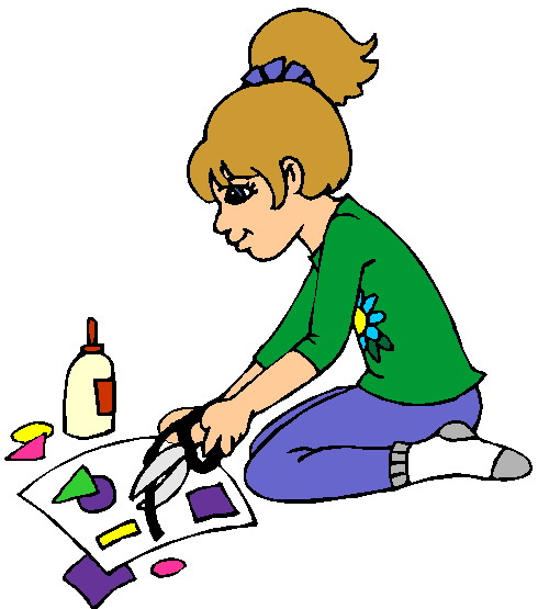 Making crafts . Make clipart