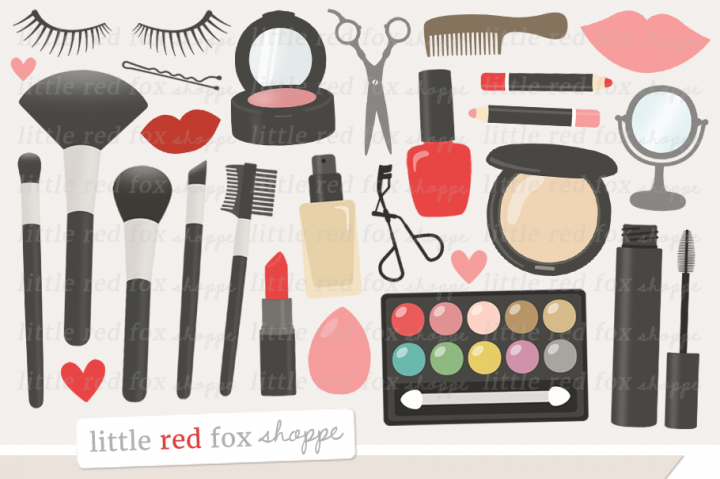 By little red fox. Makeup clipart