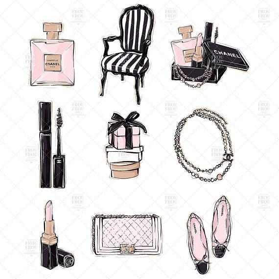 Fall autumn accessories rain. Makeup clipart fashion makeup
