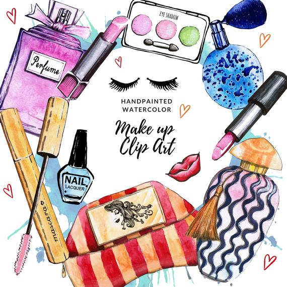 Makeup clipart fashion makeup. Cosmetics clip art planner