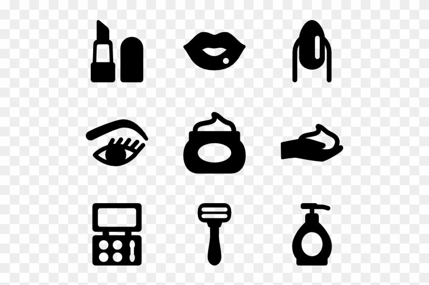 Makeup clipart icon. Banner freeuse stock lipstick