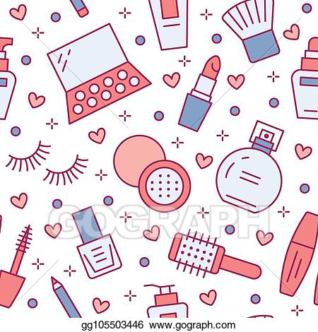 Makeup clipart makeup store. Vector beauty care red