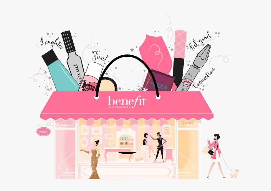 Makeup clipart makeup store. Careers benefit cosmetics illustration