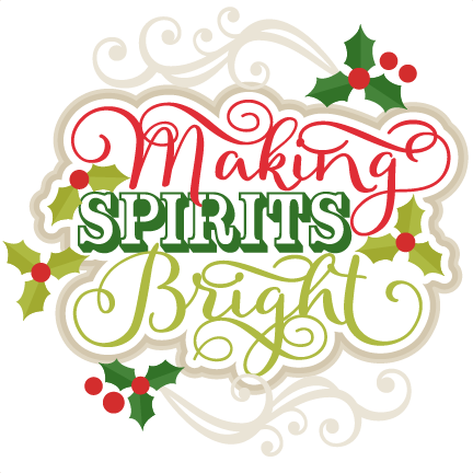 Spirits bright title scrapbook. Making png files