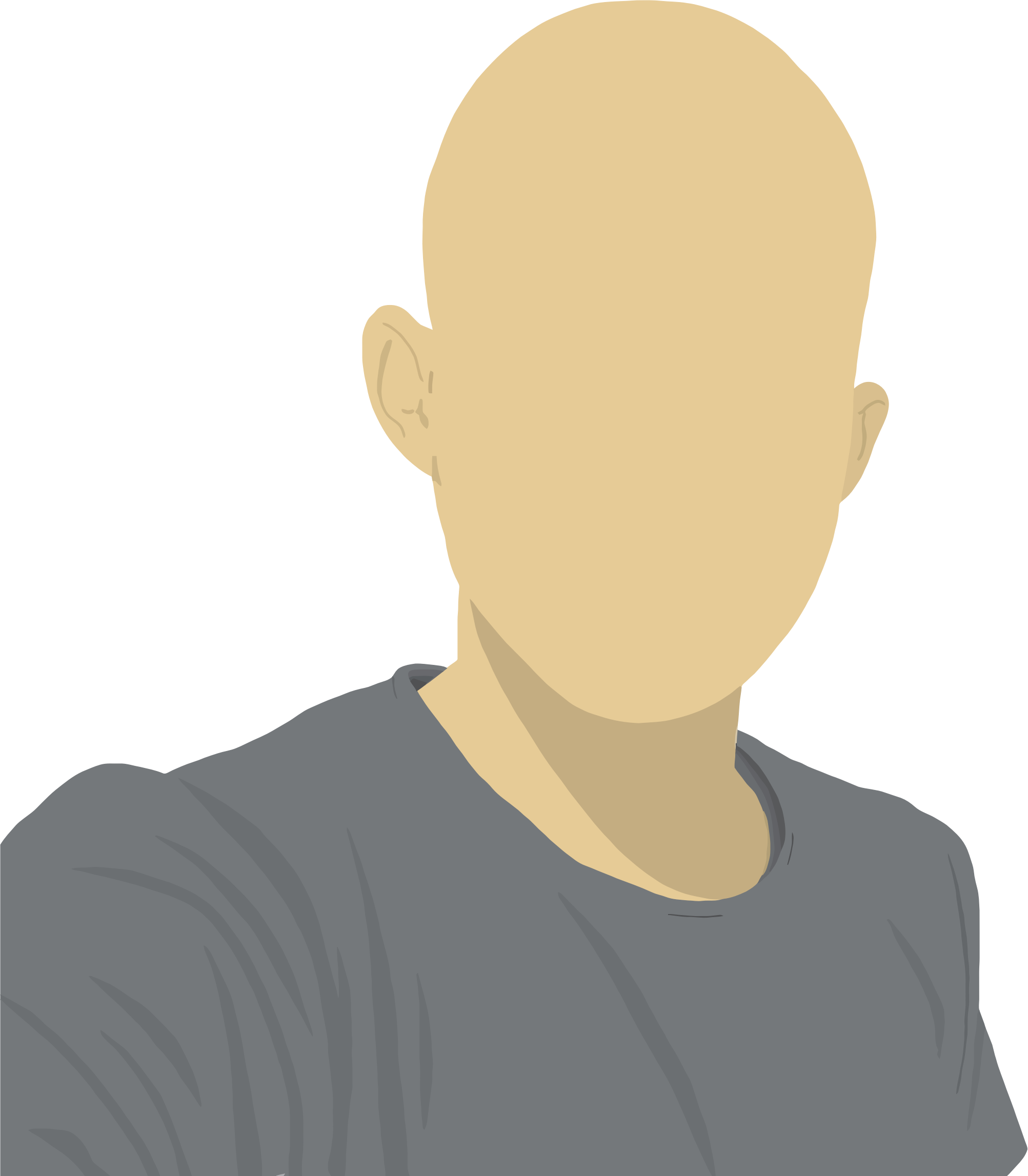 Male clipart 1 person. Faceless avatar big image