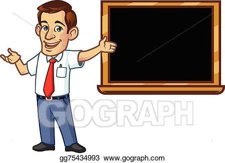 Male clipart. Vector art teacher drawing