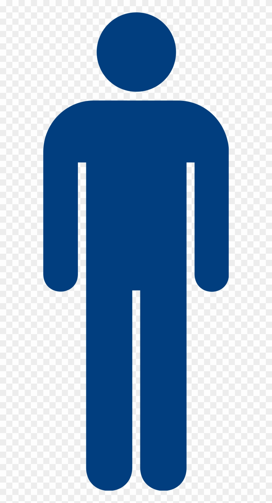 Male clipart. Blue mens toilet sign
