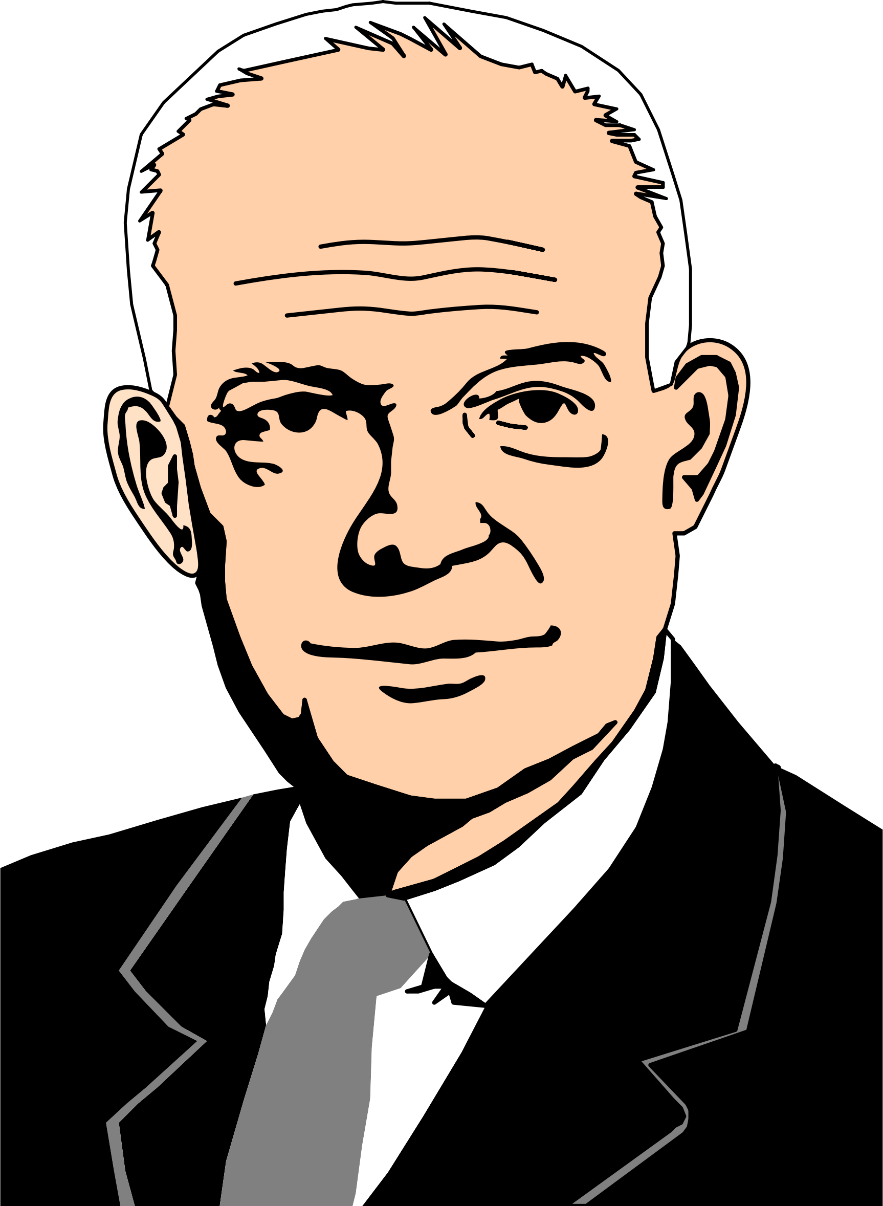 Dwight d eisenhower avatar. Photo clipart portrait