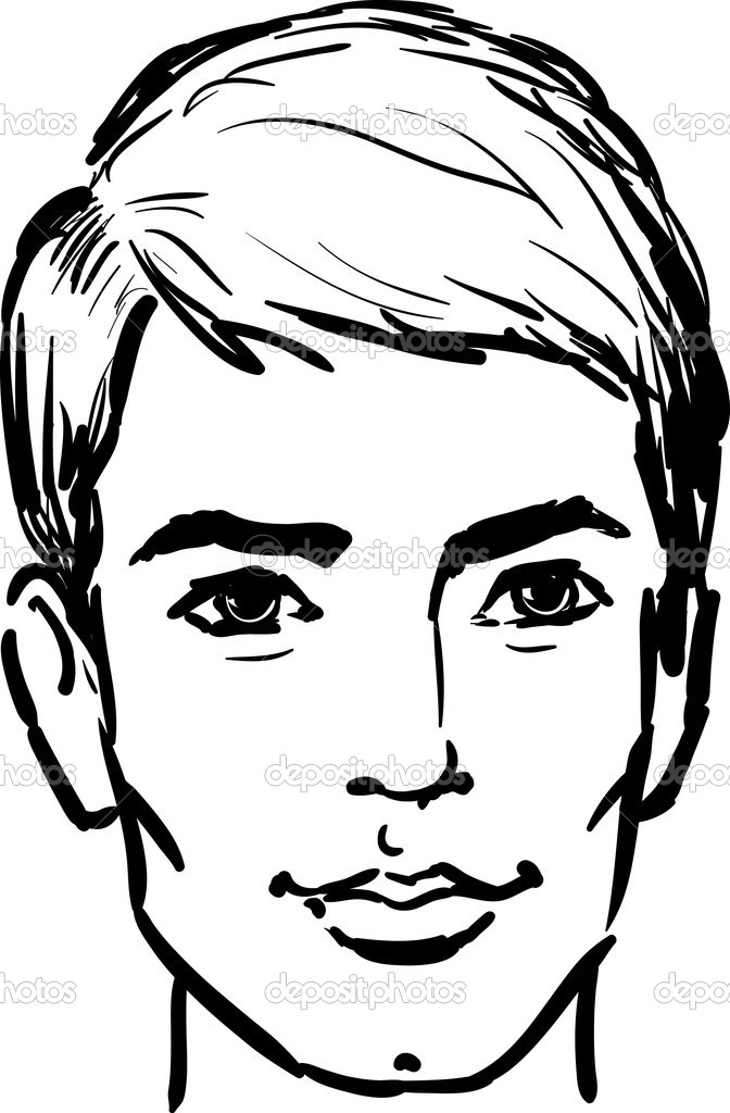 Drawing clip art library. Young clipart young man