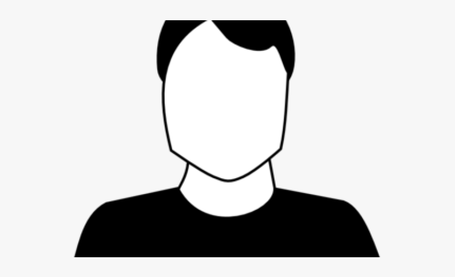Male clipart blank man. Men black and white