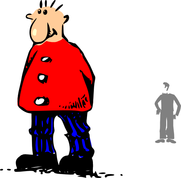 Male clipart blank man. Standing clip art at