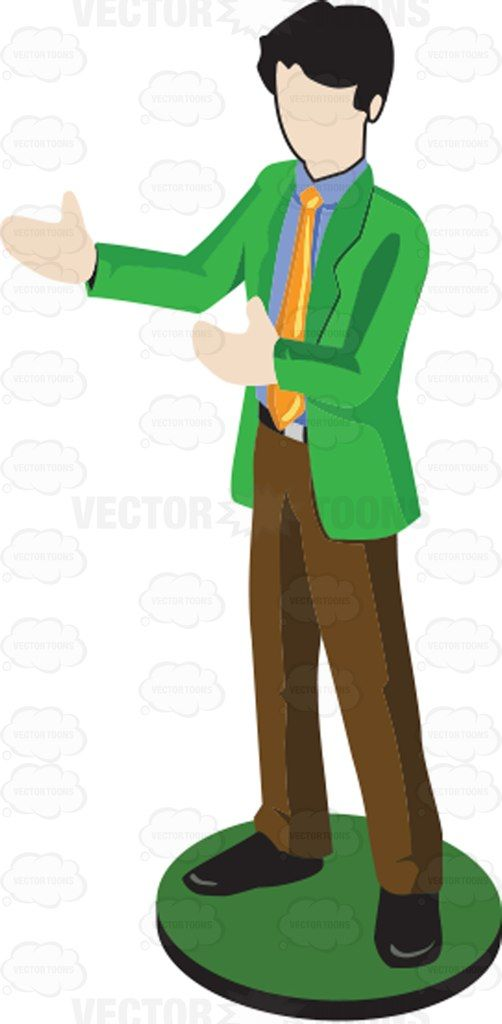 Man in green suit. Professional clipart individual professional