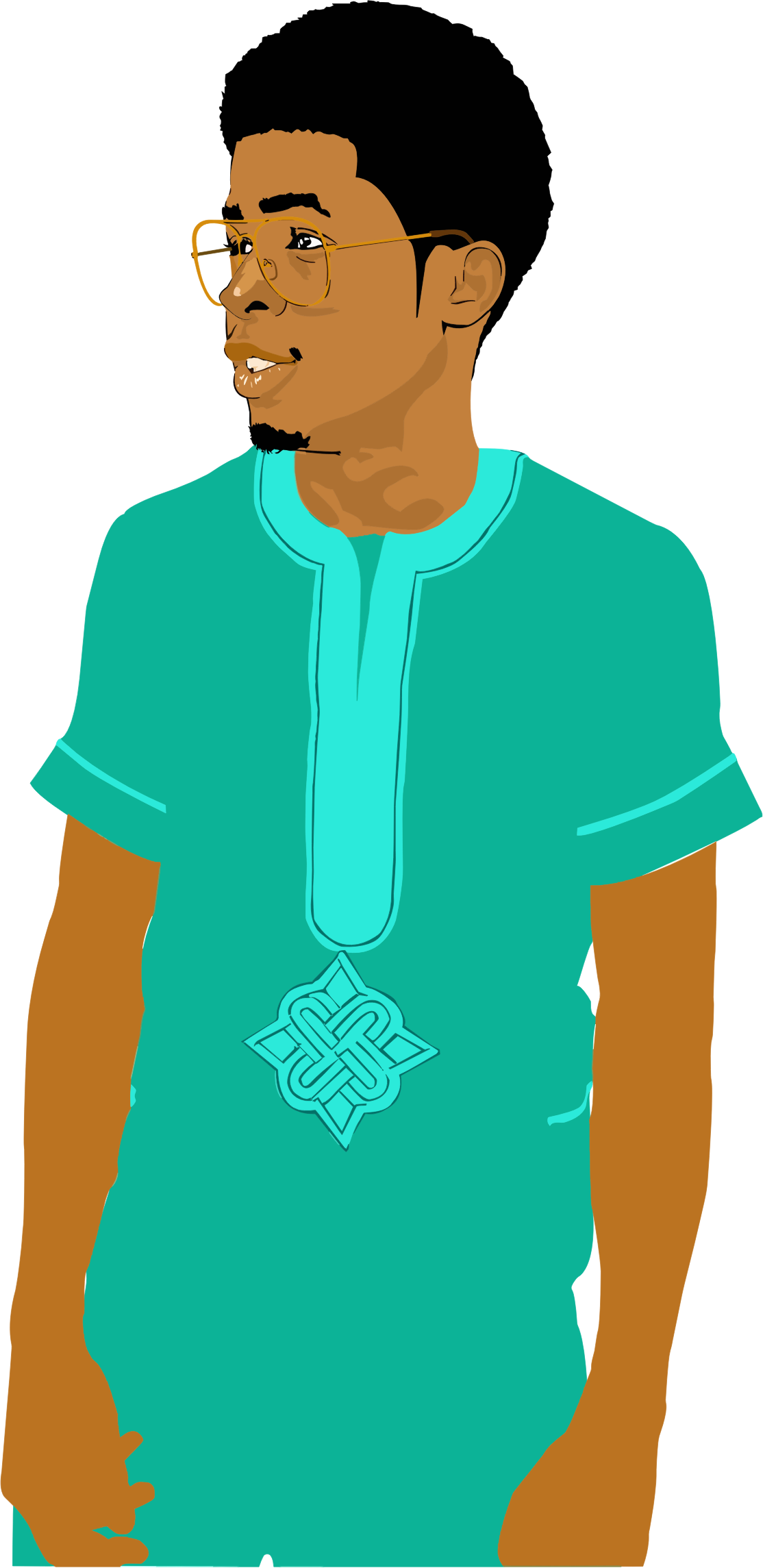 Black big image png. Young clipart man standing