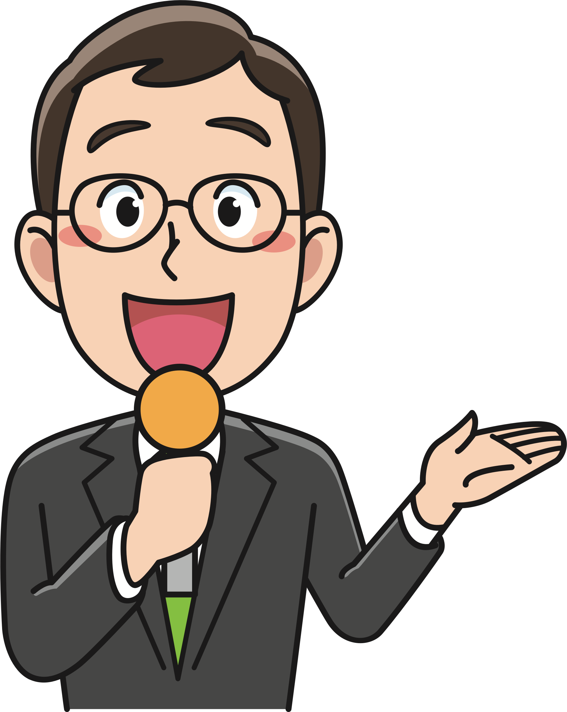 Male clipart lecturer. Presenter big image png