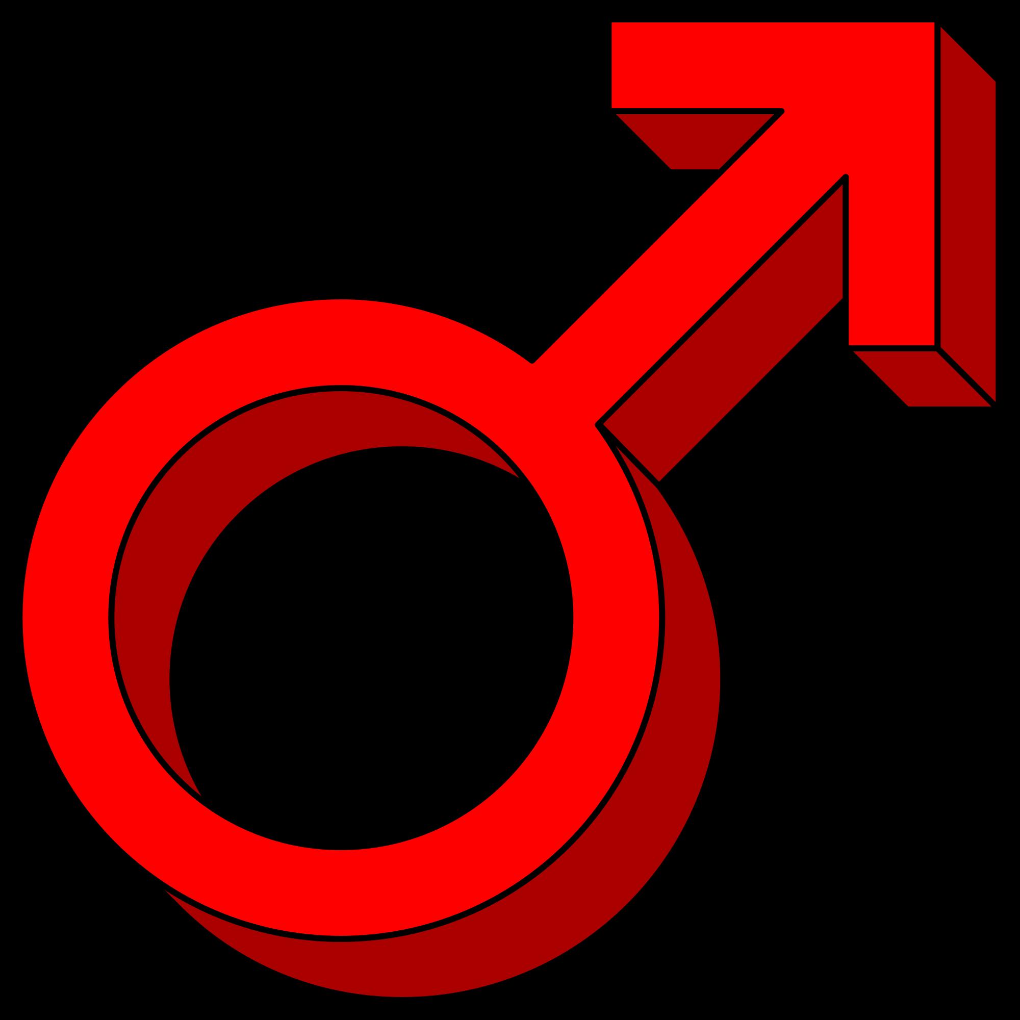 File male symbol pseudo. Mars clipart colorful