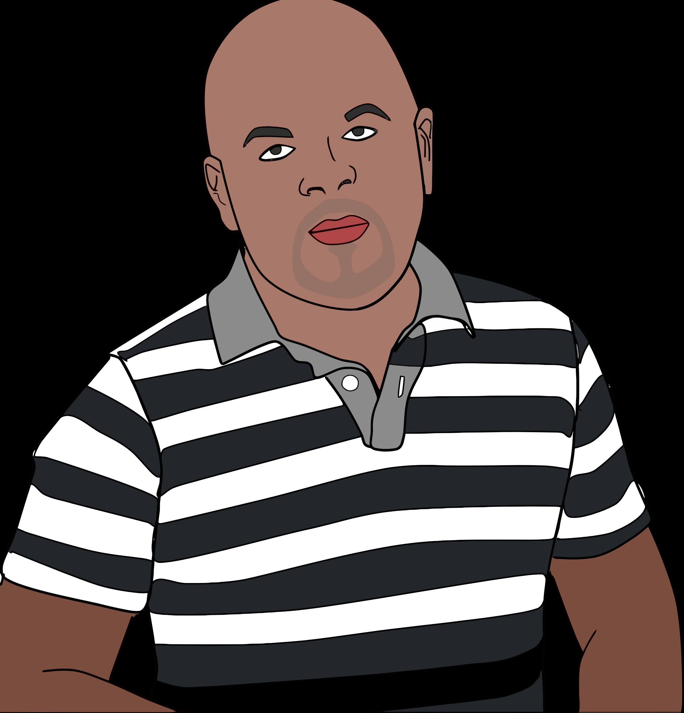 Male clipart realistic person. Man s portrait big