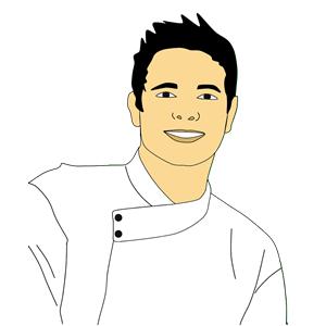 Chef portrait cliparts of. Male clipart realistic person
