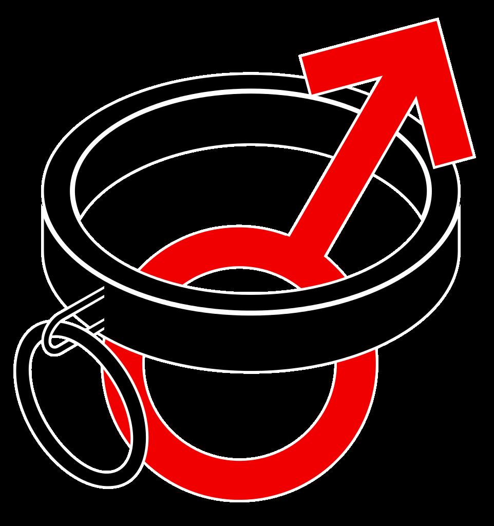 File bdsm collar symbol. Male clipart svg