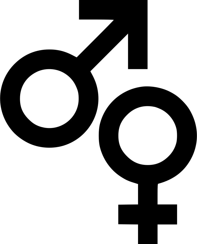 Female symbols sign biology. Male clipart svg