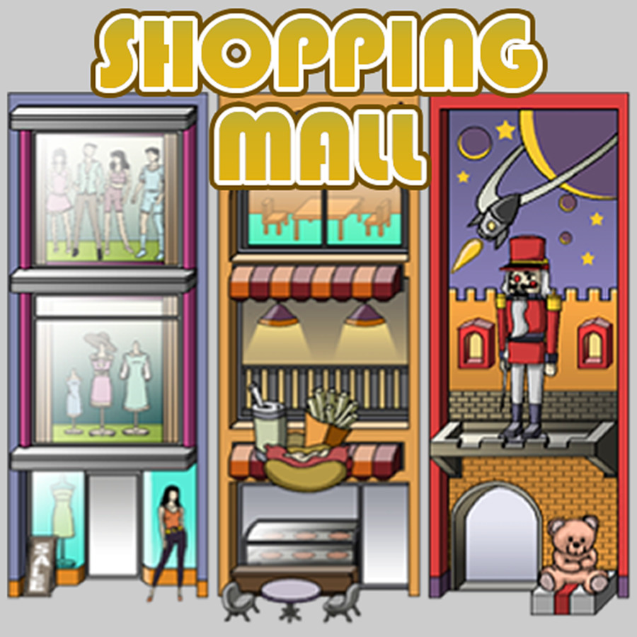 Shopping centre stock photography. Mall clipart