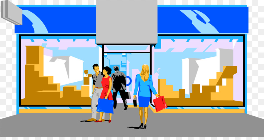 Shopping centre storefront clip. Mall clipart