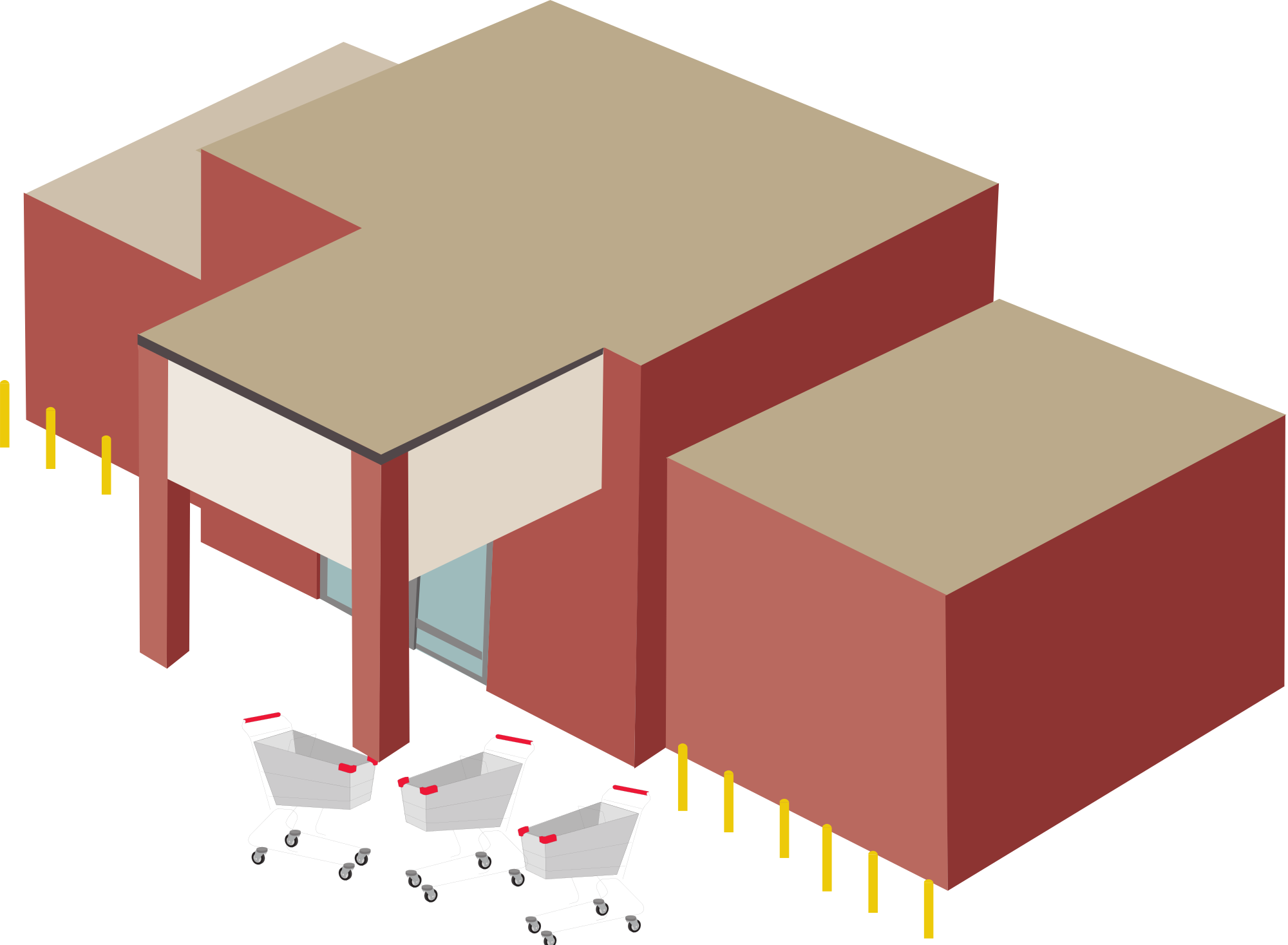 collection of department. Mall clipart clothing store building