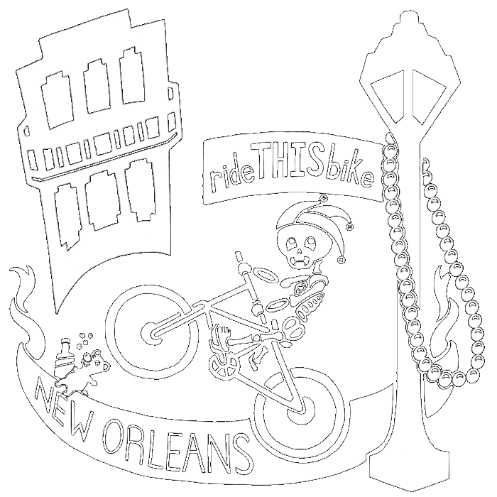 Ridethisbike bicycle new orleans. Mall clipart french shop
