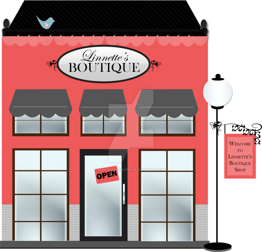Mall clipart french shop. Boutique by nenalindapr on