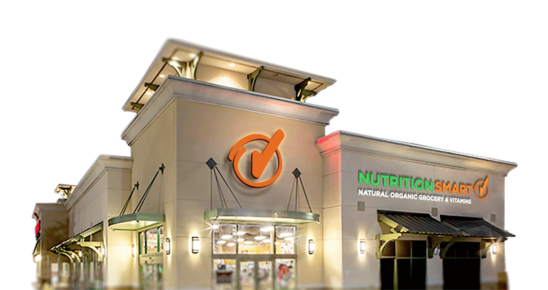Organic vitamins and supplements. Mall clipart grocery store front