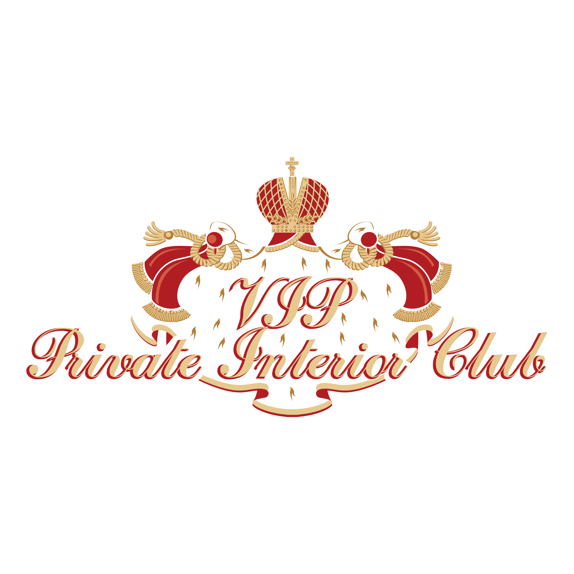 Mall clipart interior vector. Vip privat club logo