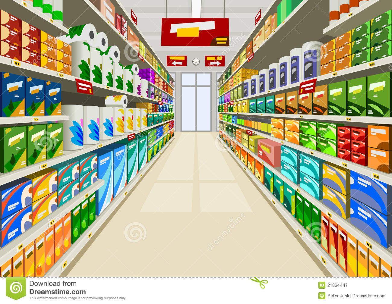 Mall clipart retail trade. Supermarket stock illustrations
