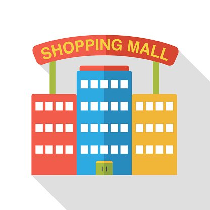 Mall clipart simple. Shopping flat icon image