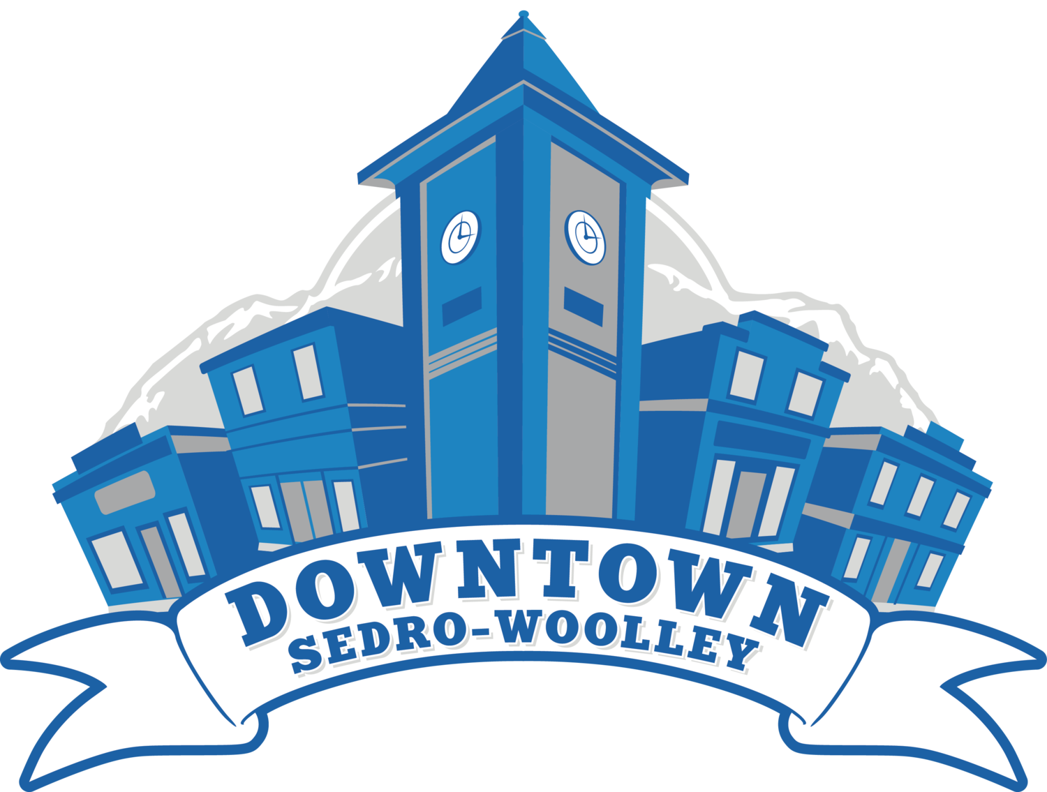Revitalize woolley sedro downtown. Mall clipart small strip