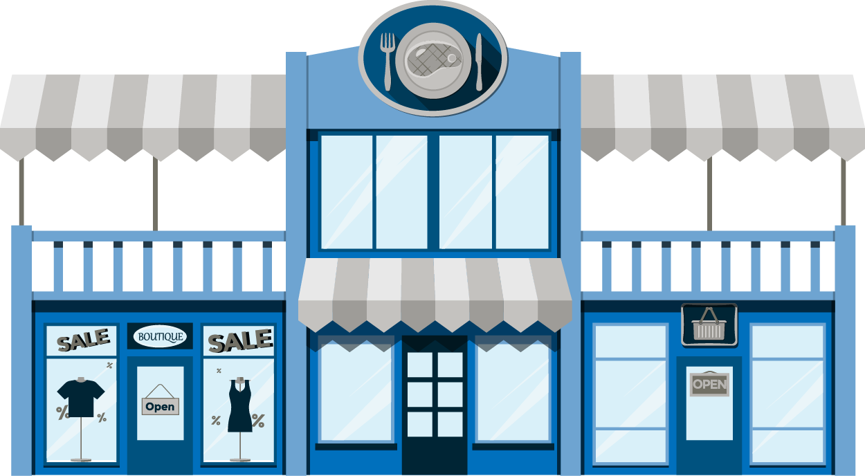 Mall clipart small strip. Retail property financing shopping