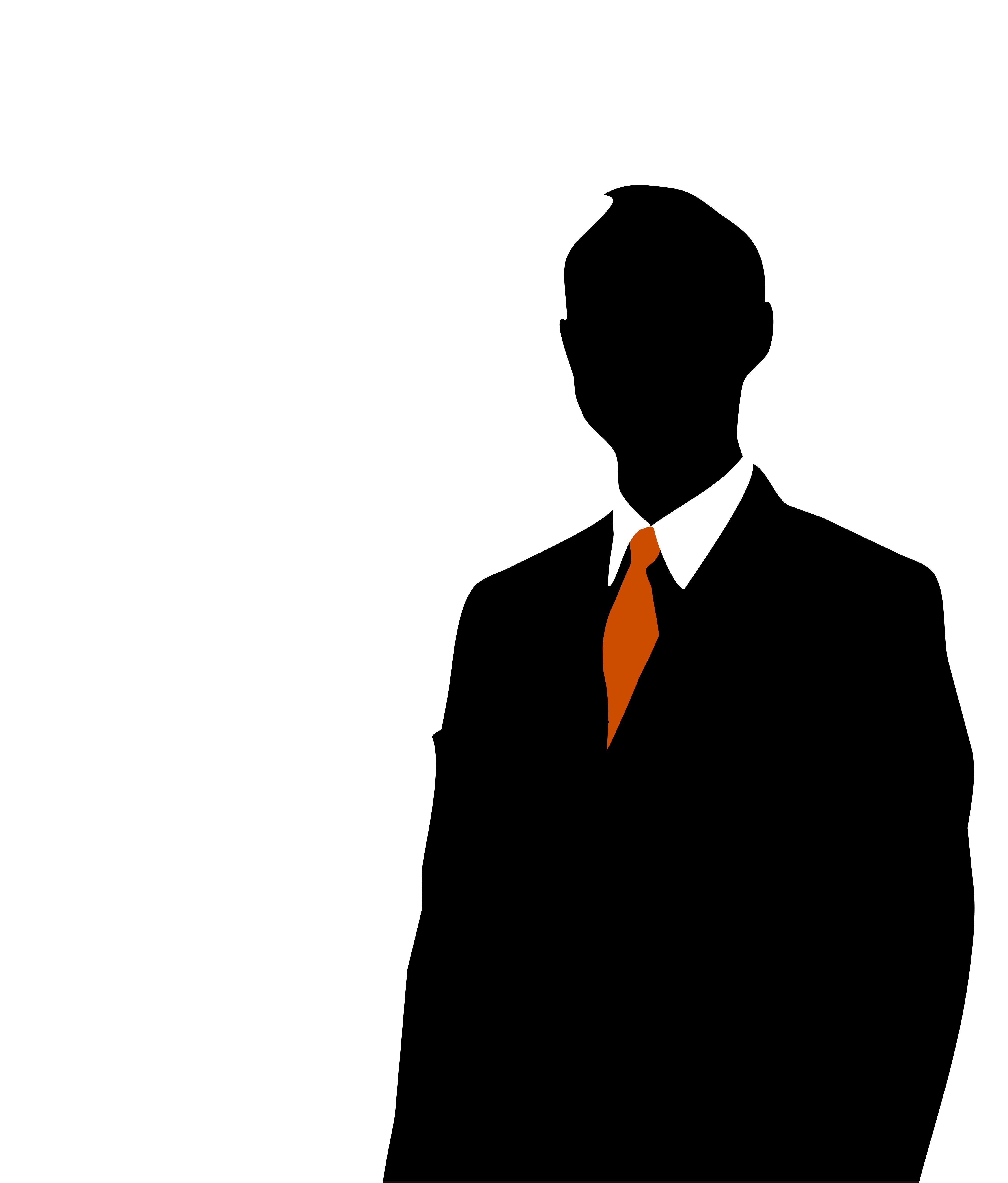 Man silhouette clip art. Business clipart business person