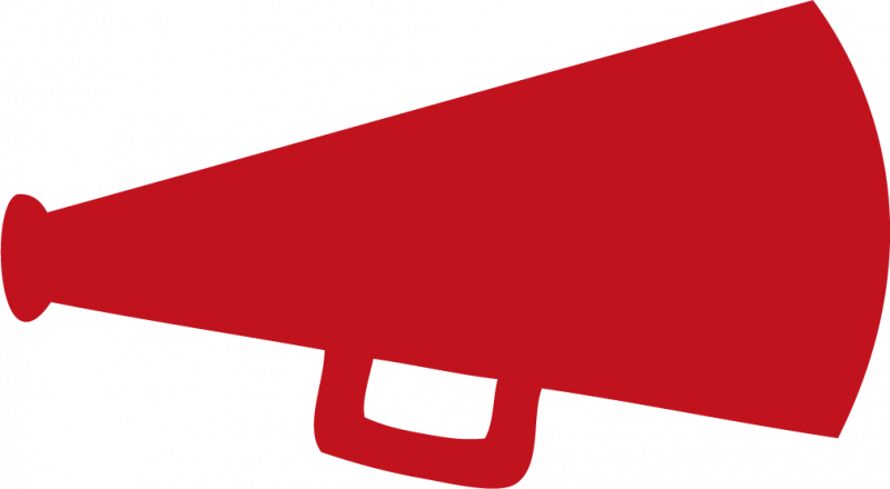 Red . Megaphone clipart forceful