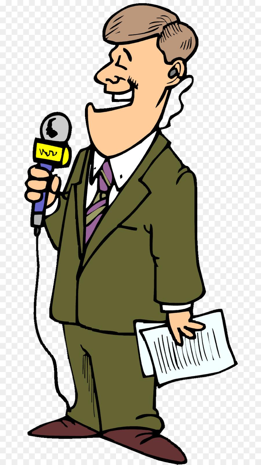Cartoon television newspaper . News clipart man