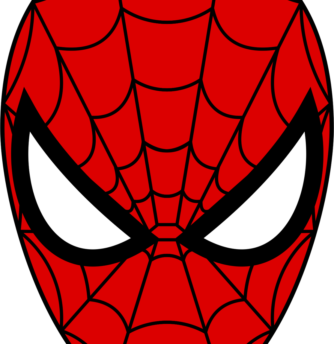 Youtube clipart spiderman. Spider man face pencil