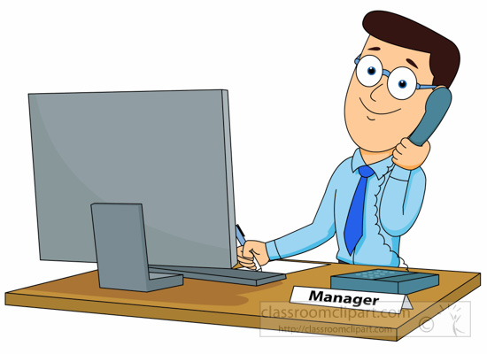 manager clipartlook. Yelling clipart office supervisor