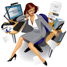 Receptionist clipart admin assistant. Manager administrator