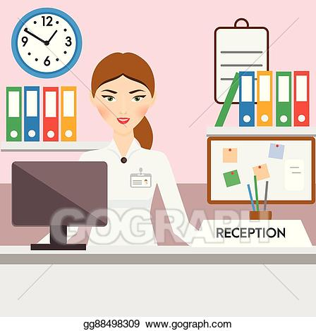 Vector art administrator manager. Receptionist clipart admin support