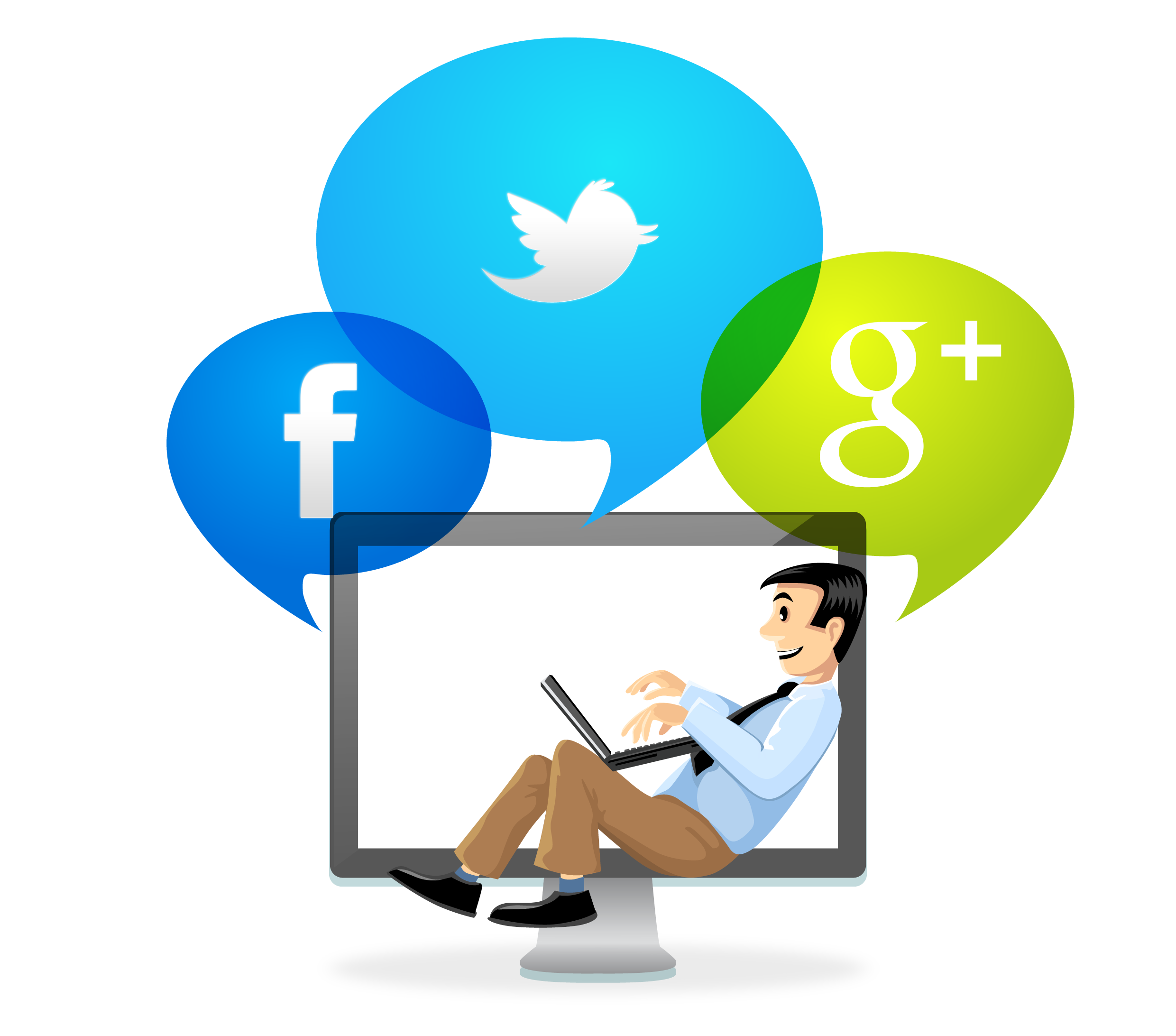 Social media online community. Manager clipart advertising manager