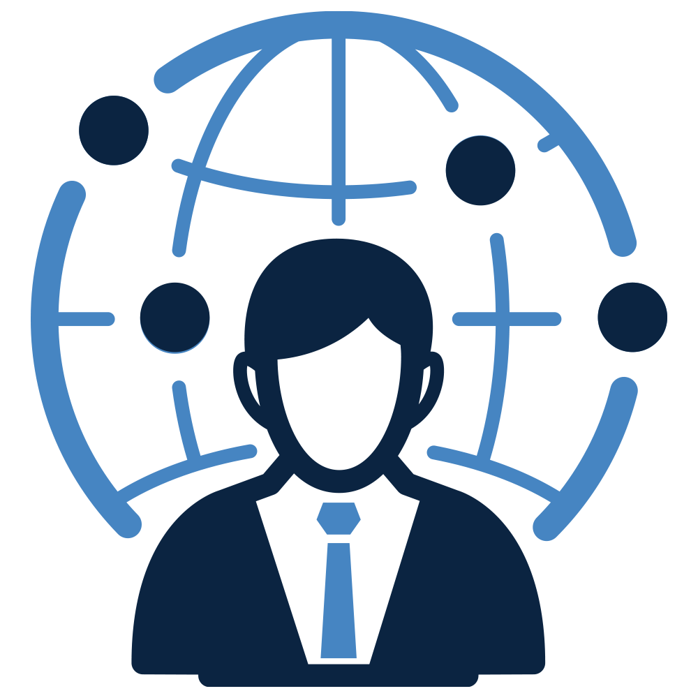 Management computer icons businessperson. Manager clipart business person